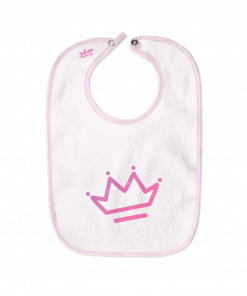 Crown White Cotton Bib