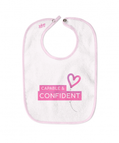 Capable and Confident White Cotton Bib