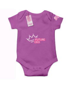 Future CEO Purple  Cotton Bodysuit