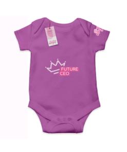 Future CEO Purple  Cotton Bodysuit