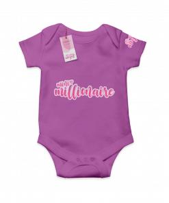 Mini Millionaire Purple  Cotton Bodysuit