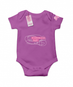 Boardroom Baby Purple  Cotton Bodysuit