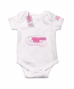 Boardroom Baby White Cotton Bodysuit