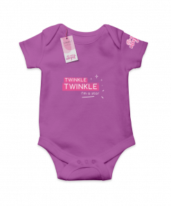Twinkle Twinkle I'm a Star Purple  Cotton Bodysuit